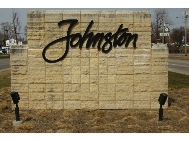 Johnston welcome sign image