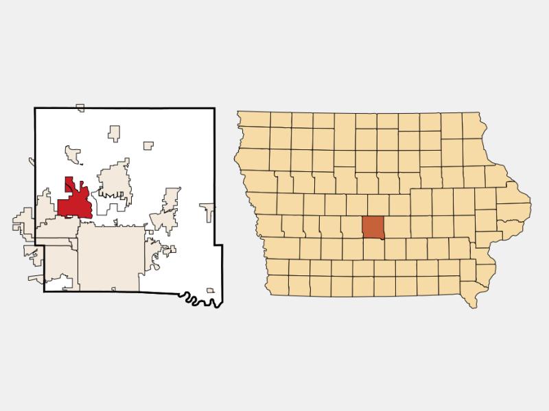 Johnston locator map