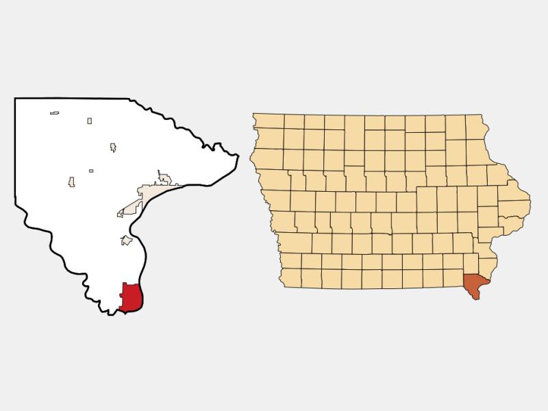 Keokuk locator map