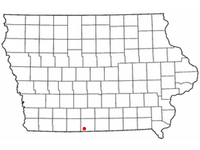 Lamoni location map