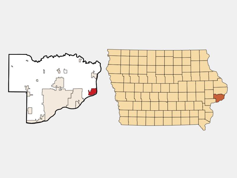 Le Claire locator map