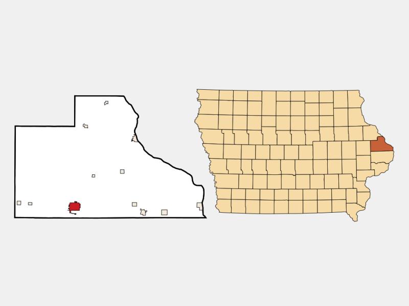 Maquoketa location map