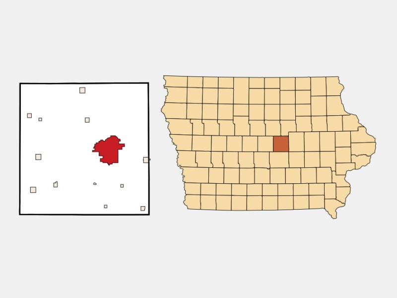 Marshalltown locator map