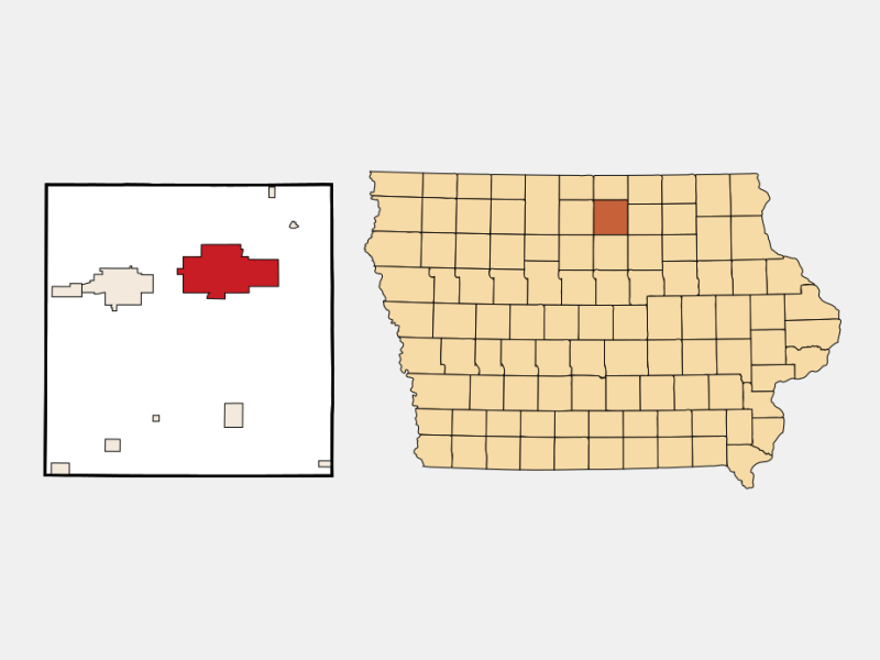 Mason City locator map