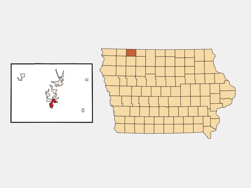 Milford locator map
