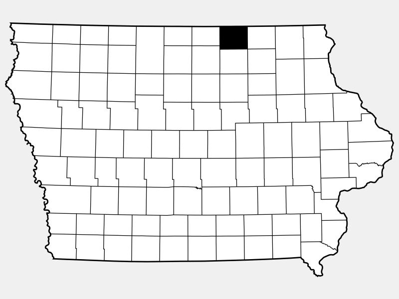 Mitchell County locator map
