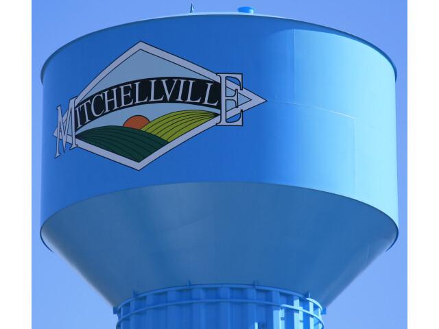 Mitchellville Iowa 20100328 Water Tower Closeup image