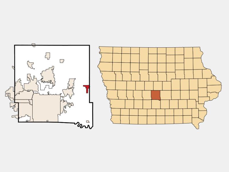 Mitchellville locator map