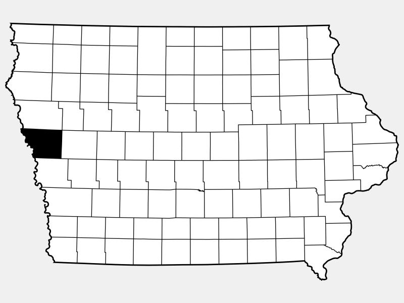 Monona County locator map