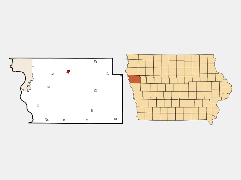 Moville locator map