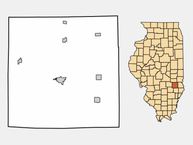Newton location map