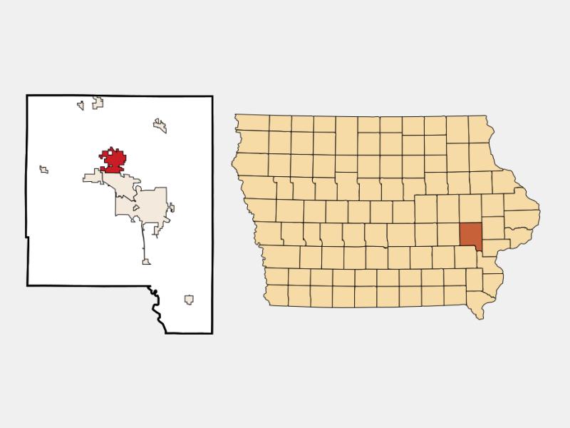 North Liberty location map