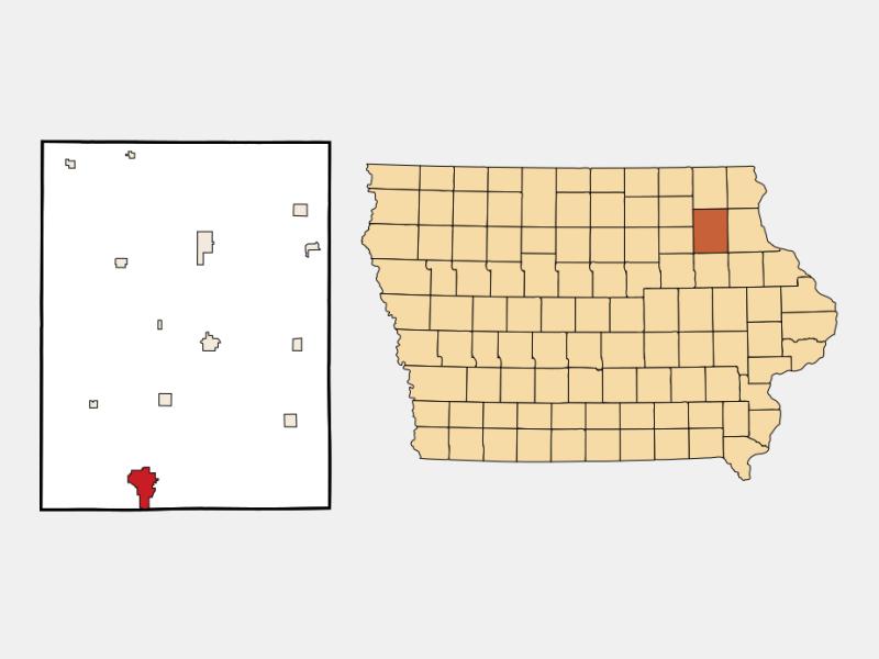 Oelwein locator map