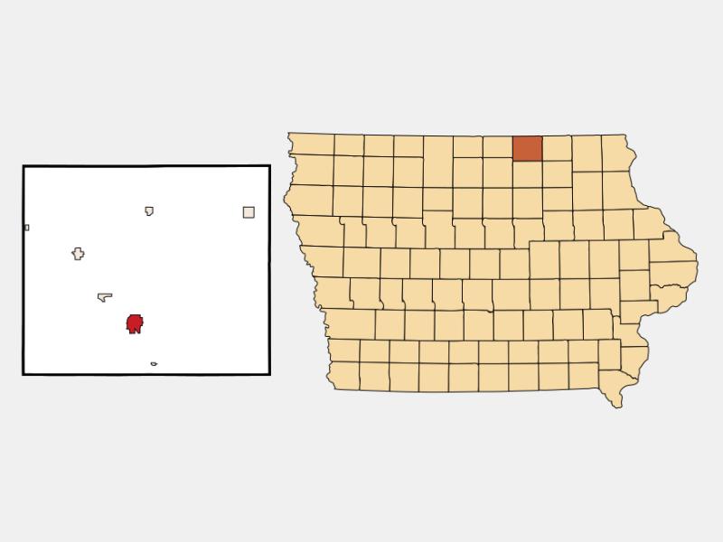 Osage locator map