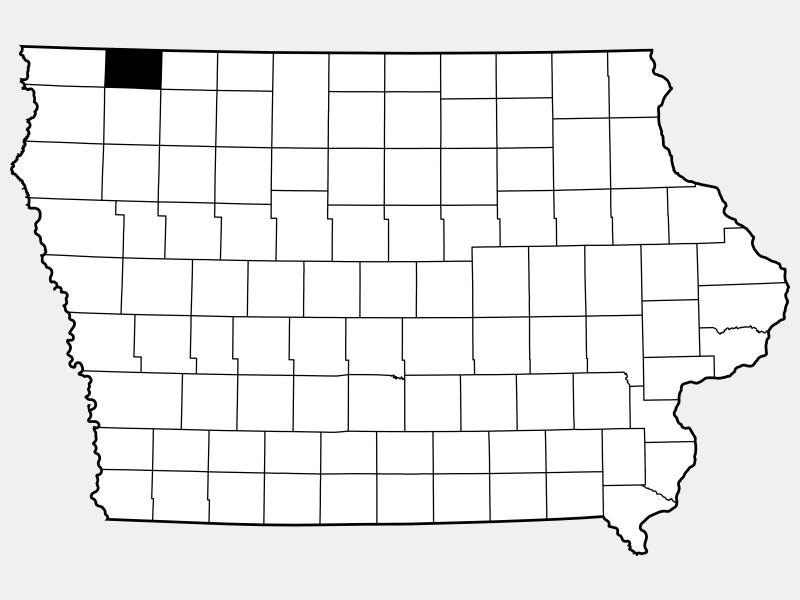 Osceola County locator map