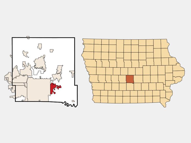 Pleasant Hill locator map