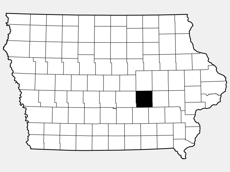 Poweshiek County locator map