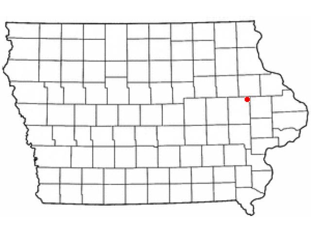 Prairieburg locator map