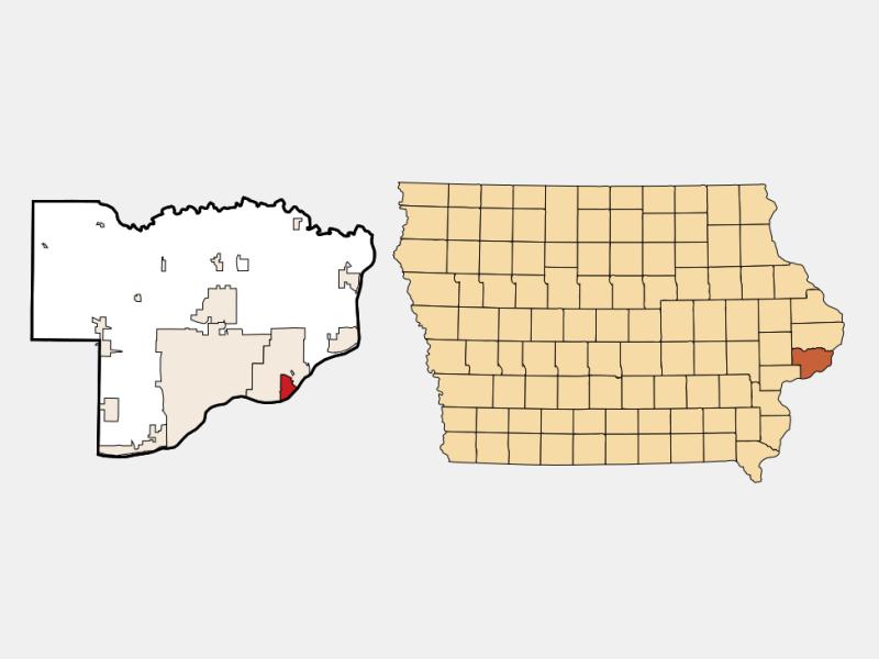 Riverdale locator map