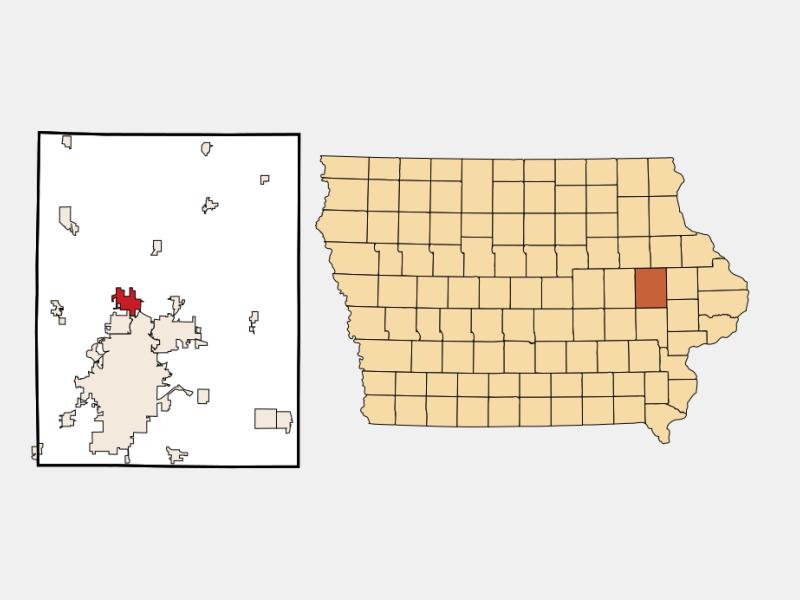 Robins locator map