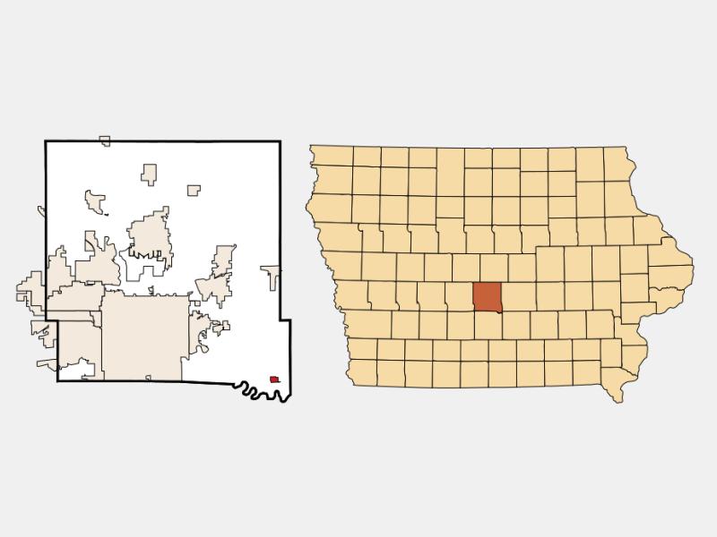 Runnells locator map