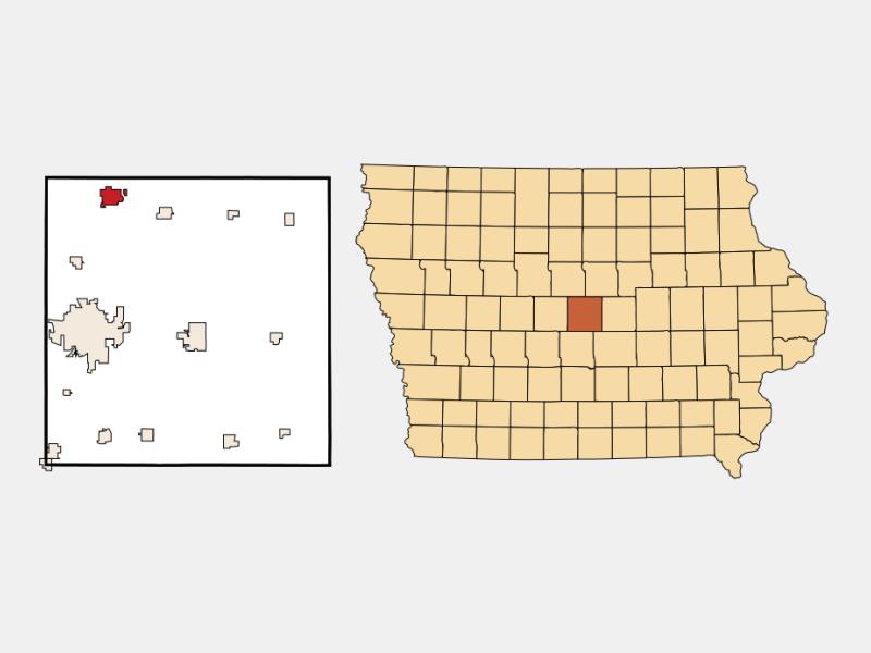 Story City locator map