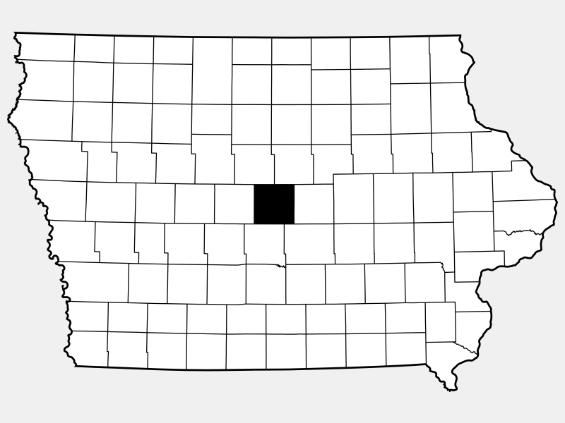 Story County locator map