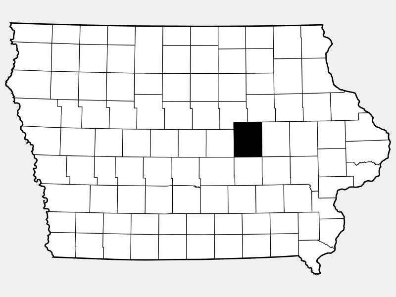 Tama County locator map