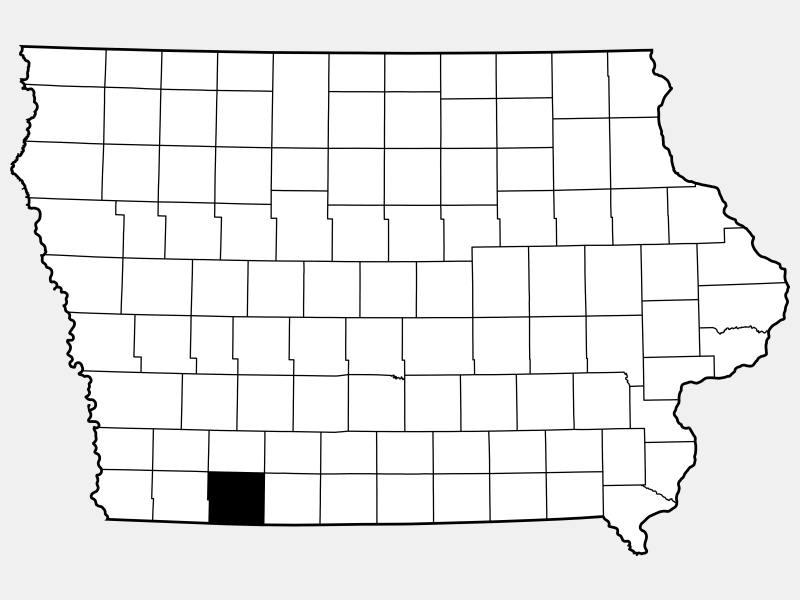 Taylor County locator map