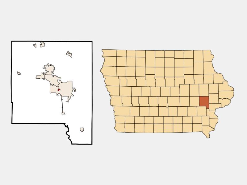 University Heights locator map