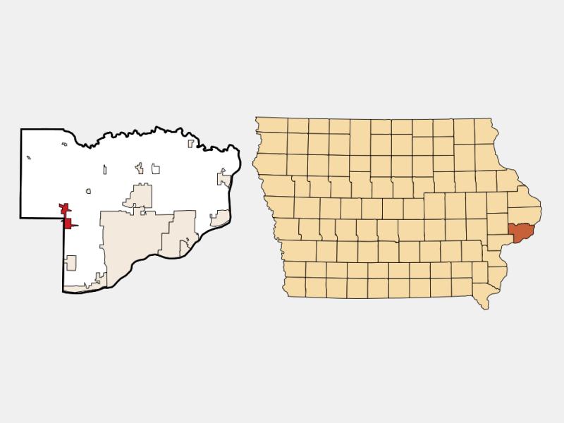 Walcott locator map