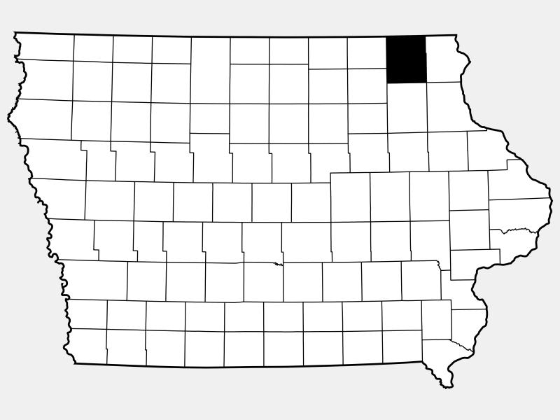 Winneshiek County locator map