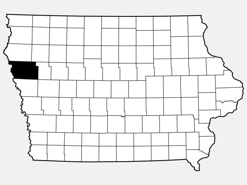 Woodbury County locator map