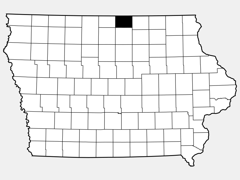 Worth County locator map