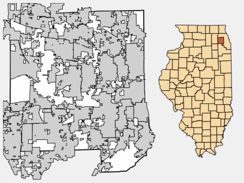Addison location map