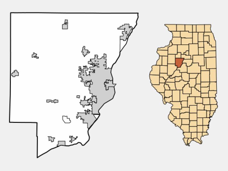 Bartonville locator map