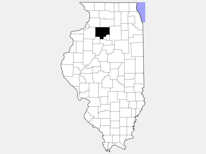 Bureau County locator map