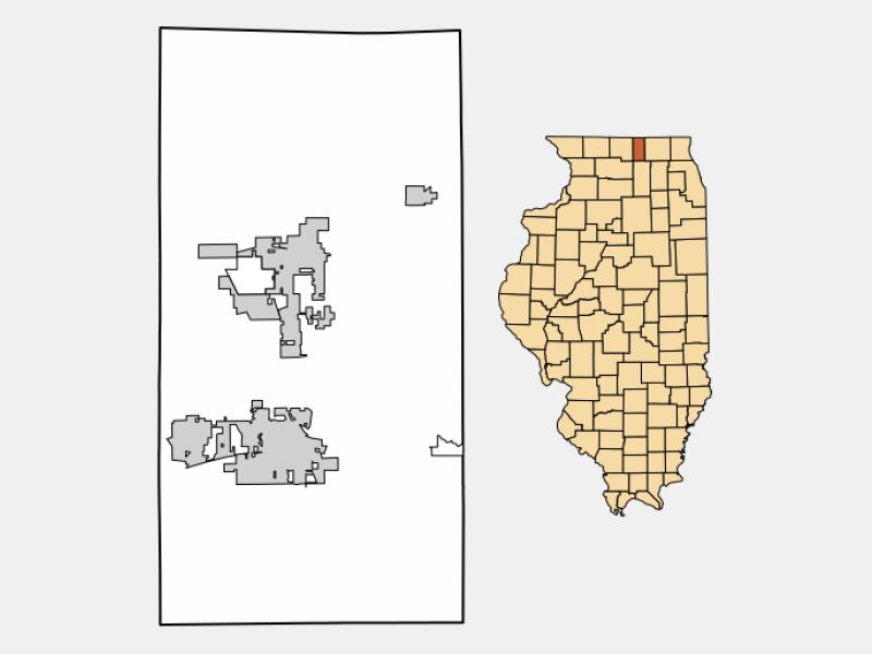 Caledonia locator map