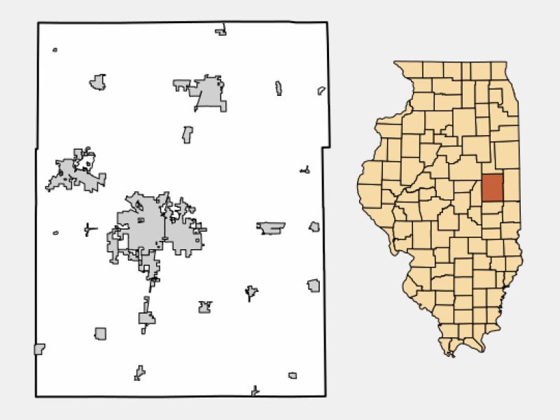 Champaign locator map