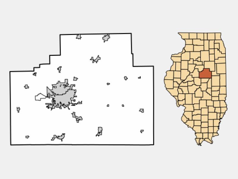 Chenoa locator map