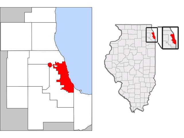 Chicago, IL locator map