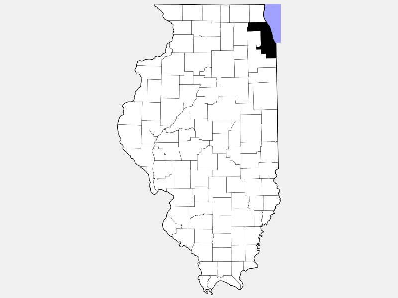 Cook County locator map