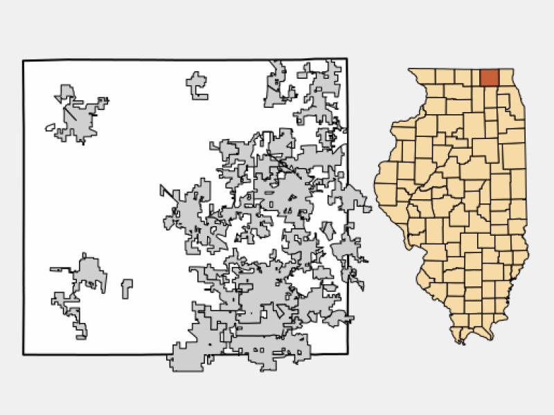 Crystal Lake locator map