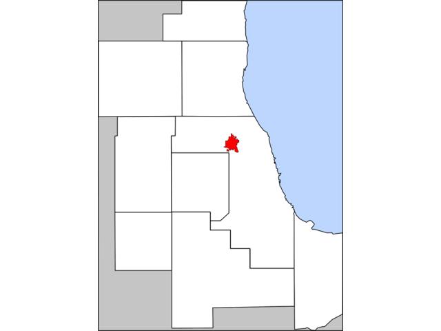 Des Plaines locator map