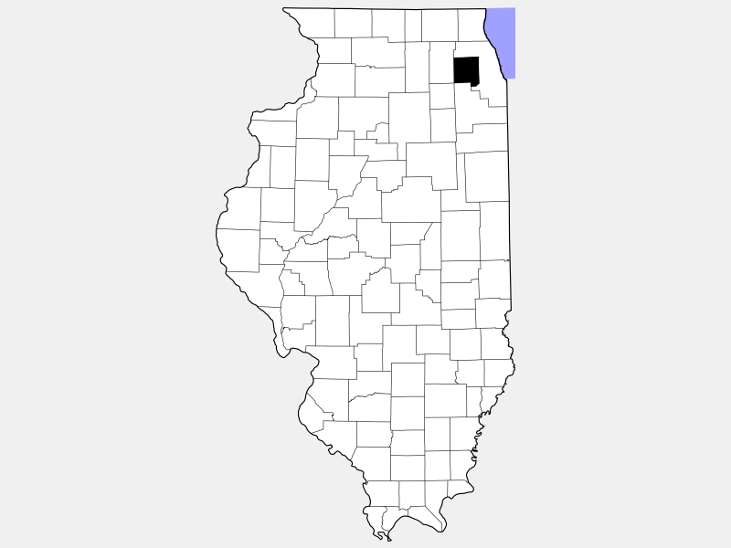 DuPage County locator map