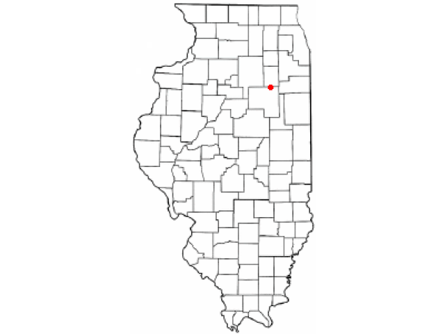 Dwight locator map
