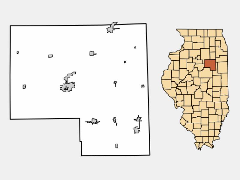 Fairbury locator map