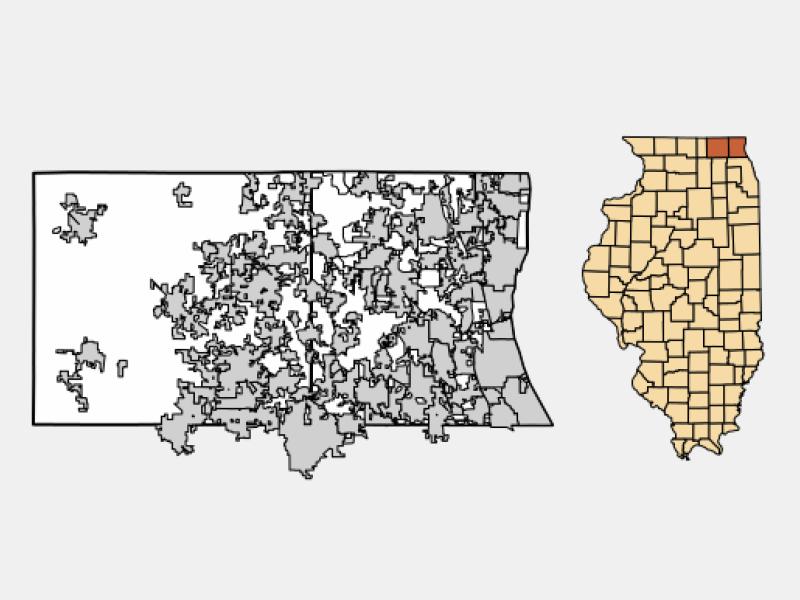 Fox River Grove locator map