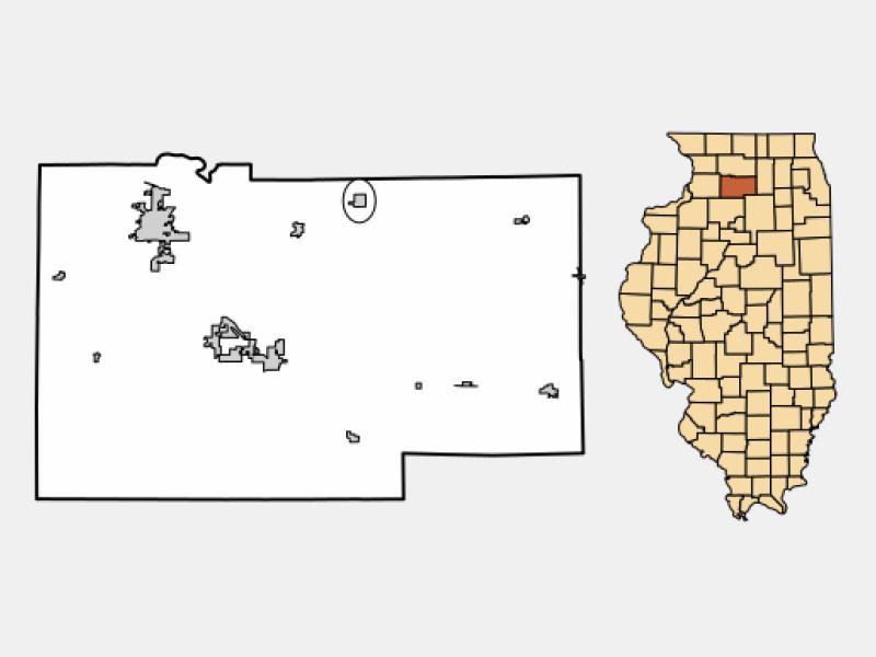Franklin Grove locator map