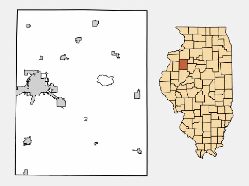 Galesburg locator map